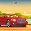 Tom Peake illustration for Bentley