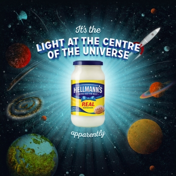 Space illustration for Hellmann's by Garry Parsons represented by Meiklejohn